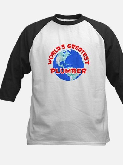 World's Greatest Plumber (F) Kids Baseball Jersey