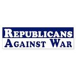 Republicans Against War car sticker