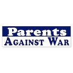 Parents Against War bumper sticker