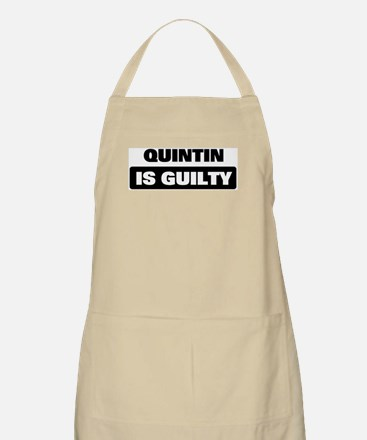 QUINTIN is guilty BBQ Apron