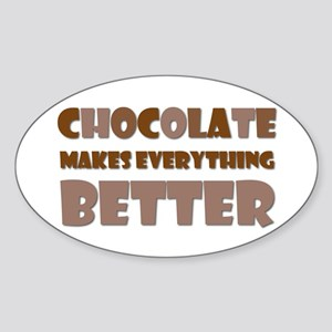 Cute Chocolate Saying Oval Sticker