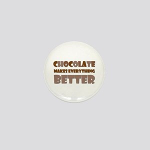 Cute Chocolate Saying Mini Button