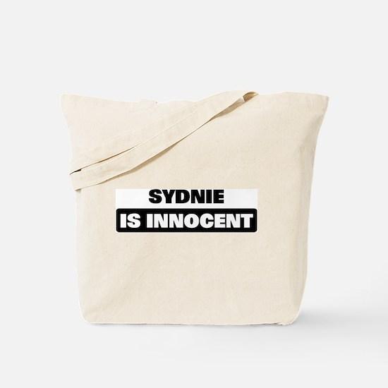 SYDNIE is innocent Tote Bag