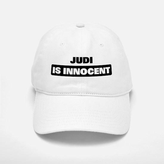 JUDI is innocent Baseball Baseball Cap