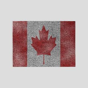 Towel Texture Canada Flag 5'x7'Area Rug