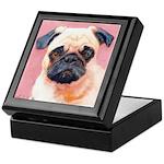 Pinkie Pug Puppy Keepsake Box
