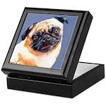Blue Boy Pug Puppy Keepsake Box