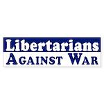Libertarians Against War car sticker