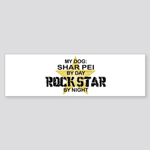 Shar Pei Rock Star Bumper Sticker