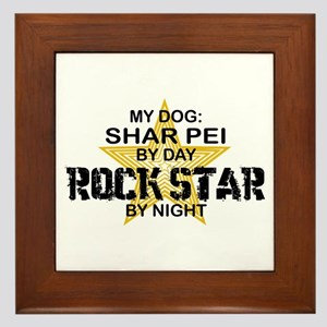 Shar Pei Rock Star Framed Tile