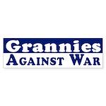 Grannies Against War bumper sticker
