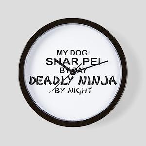 Shar Pei Deadly Ninja Wall Clock