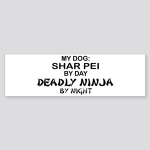 Shar Pei Deadly Ninja Bumper Sticker