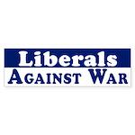 Liberals Against War bumper sticker