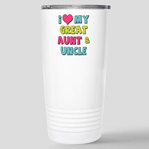 Love My Great Aun 16 oz Stainless Steel Travel Mug