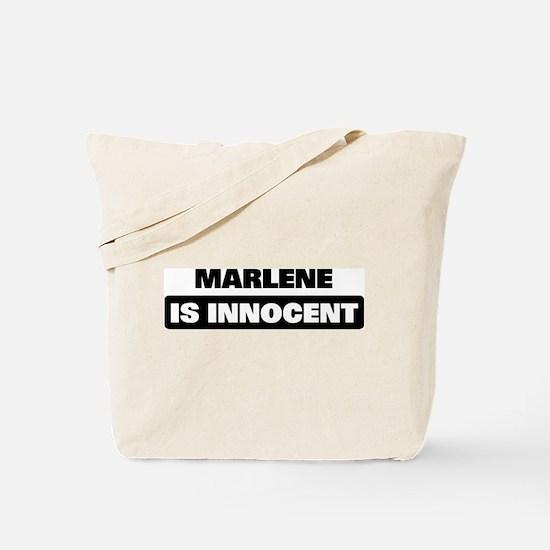 MARLENE is innocent Tote Bag