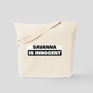 SAVANNA is innocent Tote Bag
