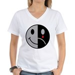 Happy Face Sad Face Women's V-Neck T-Shirt