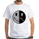 Happy Face Sad Face White T-Shirt