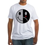 Happy Face Sad Face Fitted T-Shirt