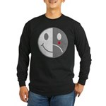 Happy Face Sad Face Long Sleeve Dark T-Shirt