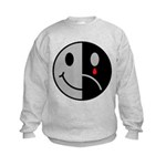 Happy Face Sad Face Kids Sweatshirt