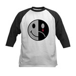 Happy Face Sad Face Kids Baseball Jersey