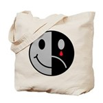 Happy Face Sad Face Tote Bag