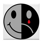 Happy Face Sad Face Tile Coaster