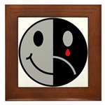Happy Face Sad Face Framed Tile