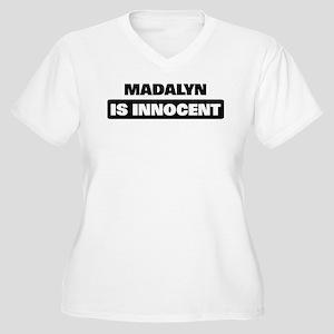 MADALYN is innocent Women's Plus Size V-Neck T-Shi