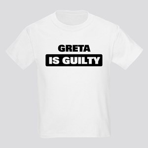 GRETA is guilty Kids Light T-Shirt