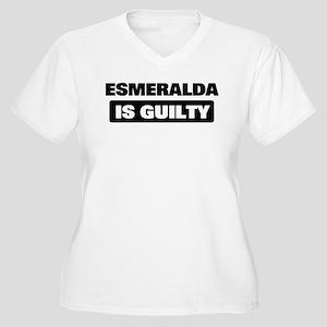 ESMERALDA is guilty Women's Plus Size V-Neck T-Shi