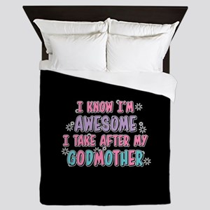 Take After My Godmother Queen Duvet