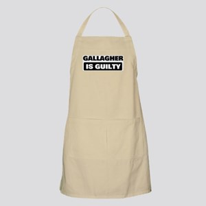 GALLAGHER is guilty BBQ Apron