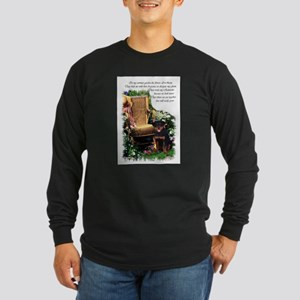 Rottweiler Art Long Sleeve Dark T-Shirt