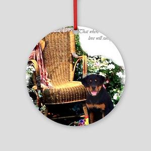 Rottweiler Art Ornament (Round)