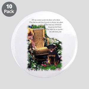 """Rottweiler Art 3.5"""" Button (10 pack)"""