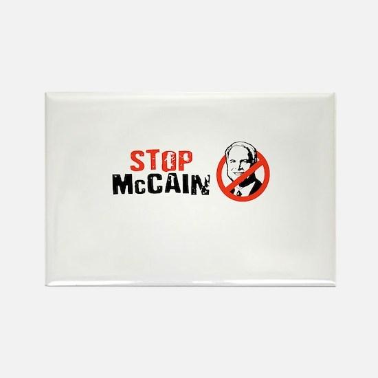 STOP MCCAIN Rectangle Magnet