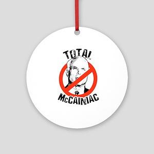 Anti-McCain: McCainiac Ornament (Round)