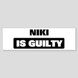 NIKI is guilty Bumper Sticker