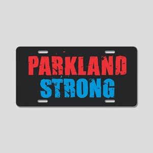 Parkland Strong Aluminum License Plate