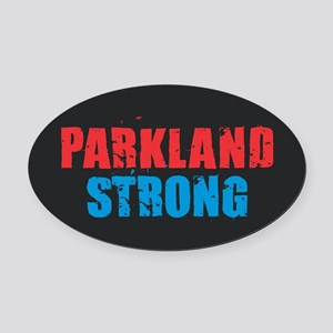 Parkland Strong Oval Car Magnet
