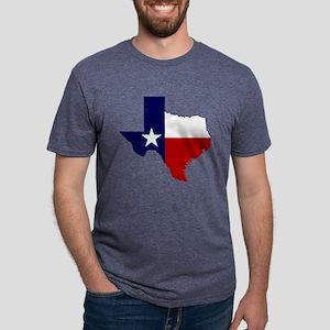 Texas Flag on Texas Outline T-Shirt