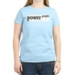 Power to the People Women's Pink T-Shirt