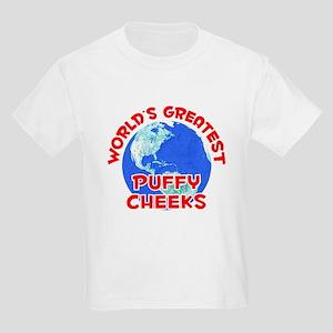 World's Greatest Puffy.. (F) Kids Light T-Shirt