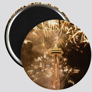 Seattle Space Needle Fireworks Magnet