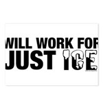 Will Work for Just Ice Postcards (Package of 8)