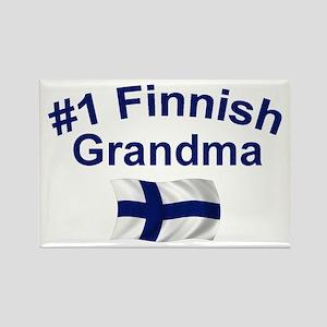 #1 Finnish Grandma Rectangle Magnet