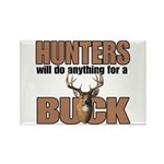 Hunters/Buck Rectangle Magnet